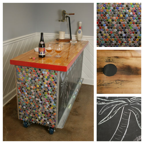 bottle cap furniture. bottle cap bar u2013 recycled collection furniture
