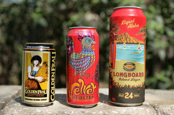 Summer beer is widely available in cans for convenience.