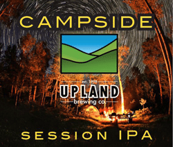 Enjoy Campside camping beer from Upland brewing.