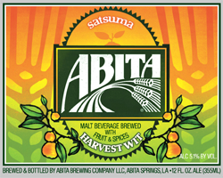 Refreshing Abita Satsuma harvest beer is great in late summer.