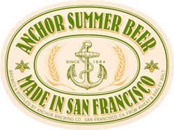 Summer beer from Anchor Stem in San Francisco.