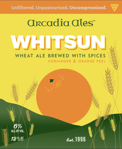 Arcadia Whitsun summer wheat ale is perfect for the season.