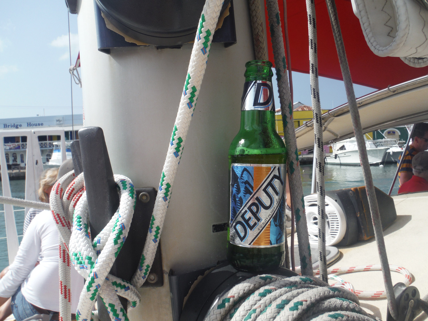 Deputy Barbados beer is great for sailing in the Caribbean.
