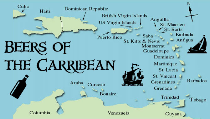 Caribbean beer list available in the islands for your travel.