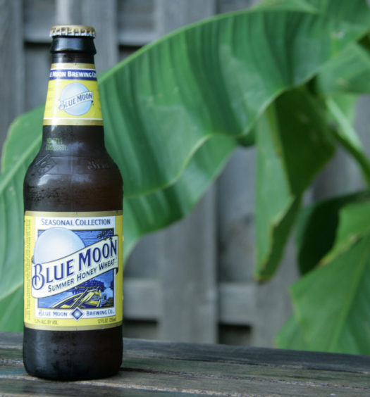 Enjoy Blue Moon summer beer with friends.
