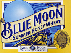 Blue Moon summer beer Honey Moon from Coors.