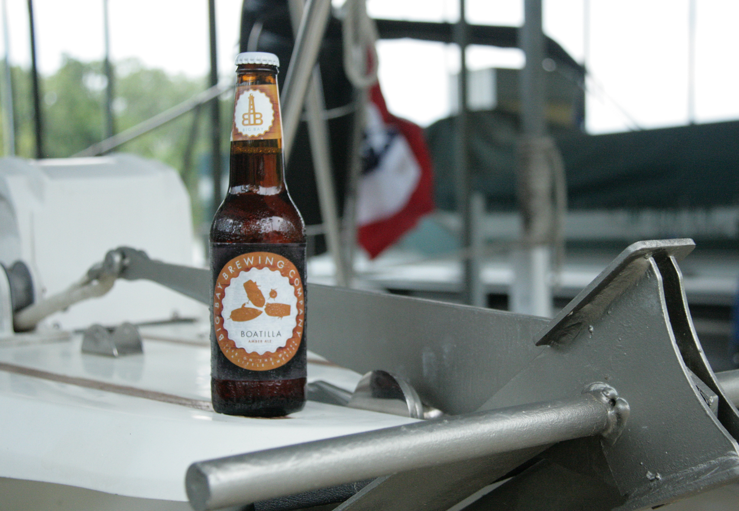 Enjoy Boatilla summer lake beer on the water.