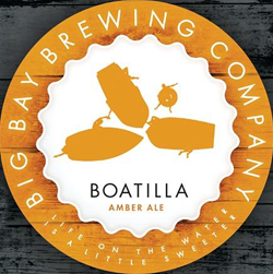 Boatilla amber ale is a great summer lake beer.
