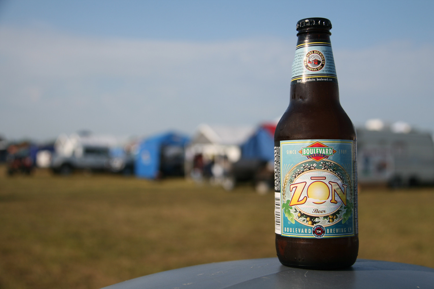 Drink Boulevard Zon witbier summertime beer for your next bbq.