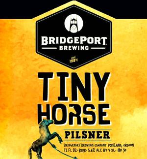 Bridgeport Tiny Horse Pilsner weekend beer.