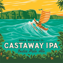 Castaway Hawaiian IPA from Kona Brewing.