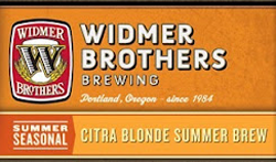 Citra Blonde summer pool beer from Widmer Brothers is tasty.