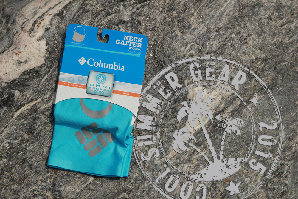 Columbia Omni Freeze Zero Neck Gaiter to keep cool.