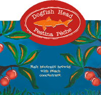 Dogfish Head's Festina Peche sommer Berliner Weisse is a great seasonal peach beer.