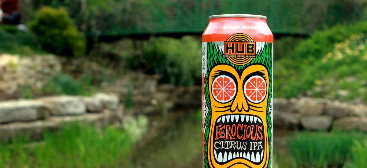 Ferocious Citrus IPA from Hopworks in Oregon.