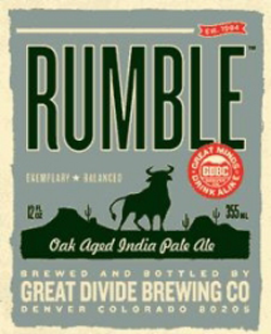 Great Divide Rumble is a summer Colorado IPA.