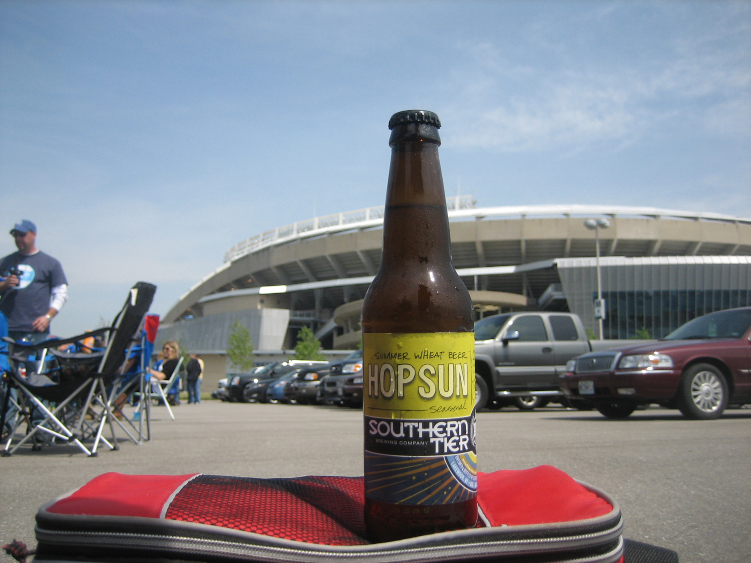Tailgate with Hop Sun summer seasonal beer from Southern Tier.