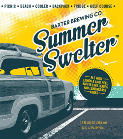 Summer Swelter hoppy spiced beer for hot weather.