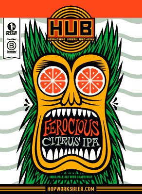 HUB Ferocious Citrus IPA summer beer.