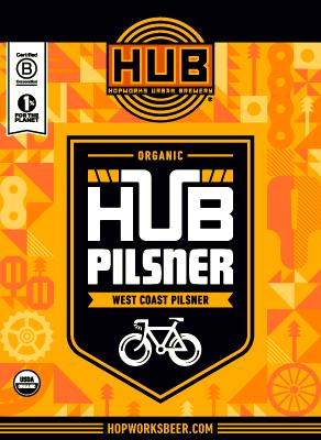 HUB Organic Pilsner summer beer.