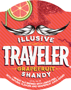 Illusive Traveler summer grapefruit shandy beer.