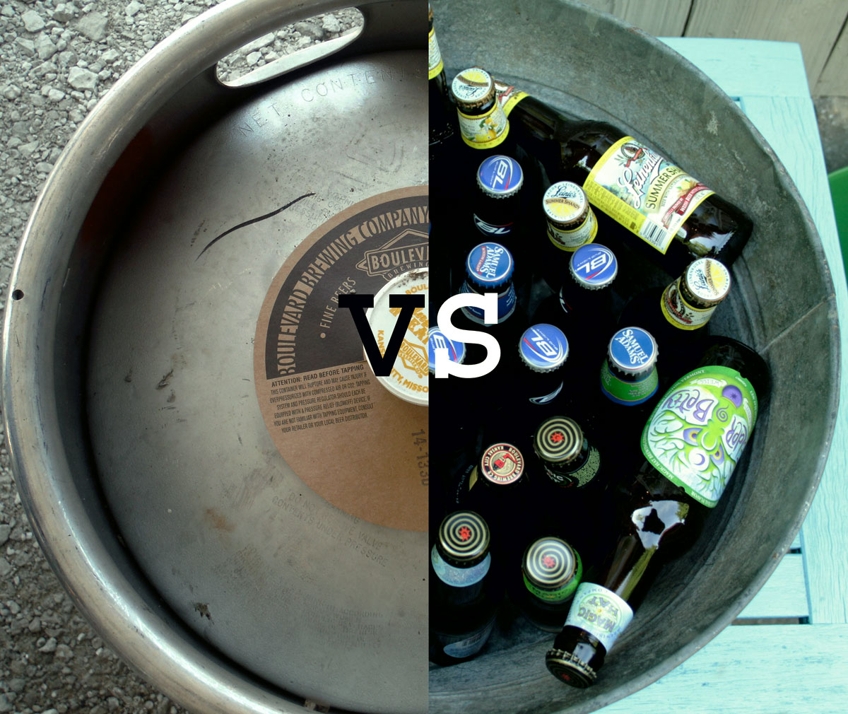 Figure how many beers are in a keg and should you purchase a beer keg vs bottles or cans for a summer party.