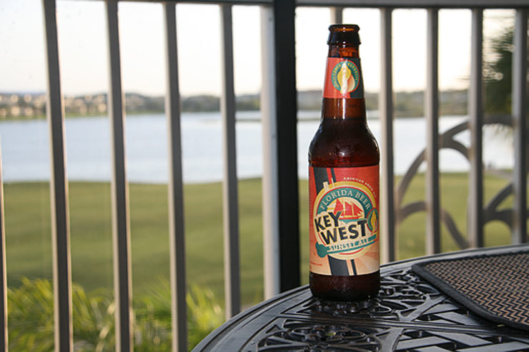 Key West beer Sunset Ale is a great summer sailing beer.