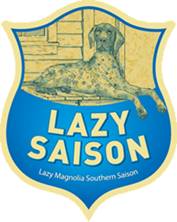 Lazy Saison summer beer from Lazy Magnolia Brewery.