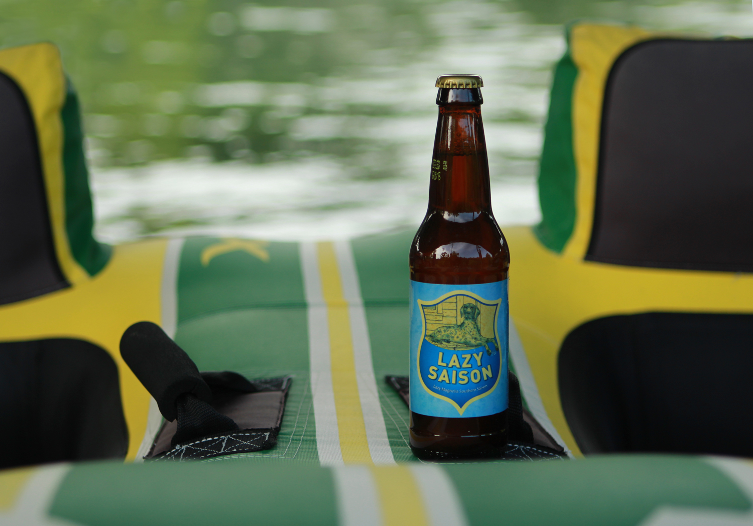 Lazy Summer Saison is a refreshing farmhouse ale summertime beer.