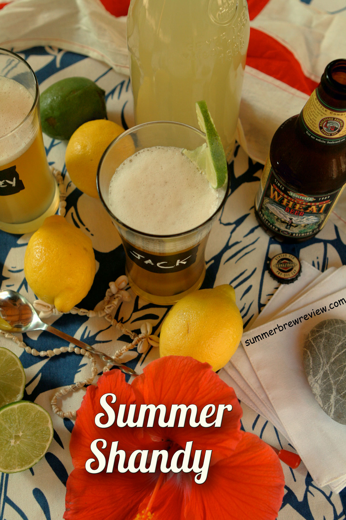 Best homemade summer shandy with lemonade and beer.