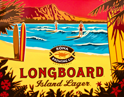 Drink Kona Longboard Summer Island Lager Hawaiian beach beer.