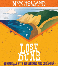 Lost Dune is a summer fruit ale from New Holland.