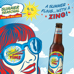 Stealin Time Summer pool beer from Magic Hat.