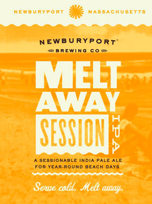 Newburyport Brewing Co Melt Away summer Session IPA is an India Pale Ale.