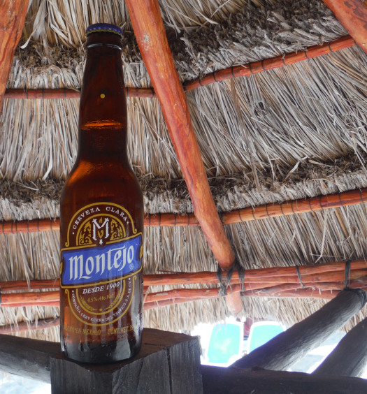 Mexico's Montejo beer is a refreshing lager.