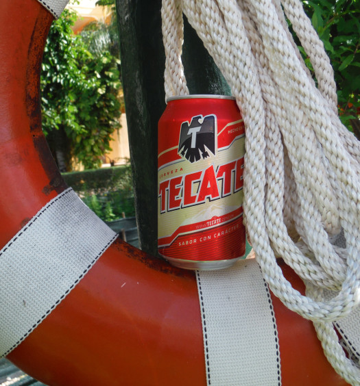 Tecate beach beer is a smooth drinking Mexican lager.