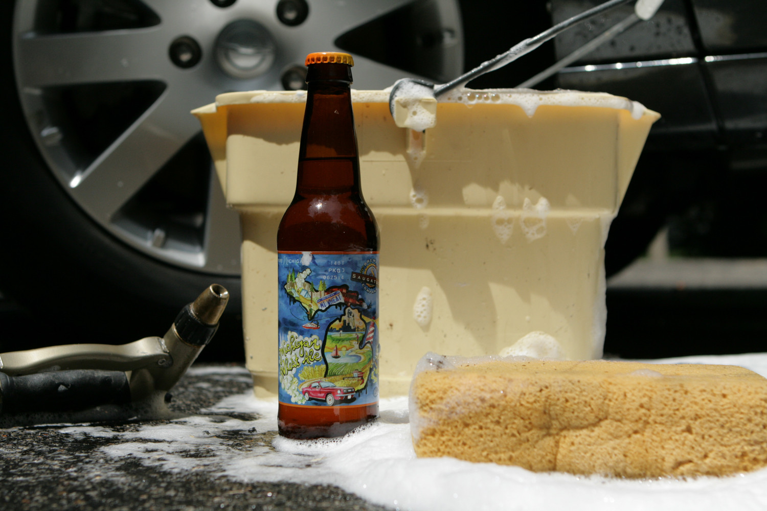 The summer seasonal beer from Saugatuck is Michigan Wheat Ale.