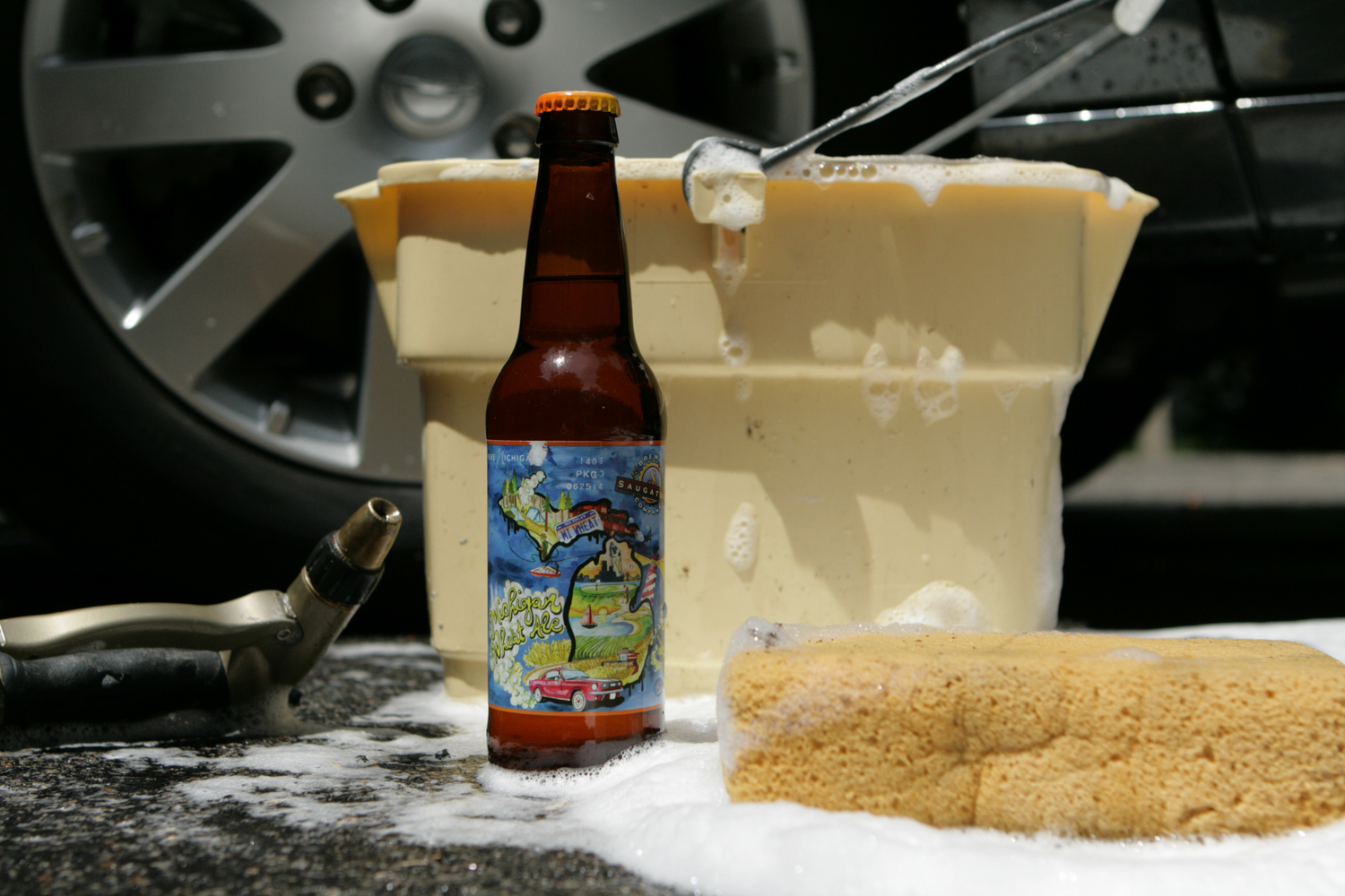 The seasonal ale from Saugatuck is Michigan Wheat summer beer.