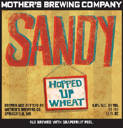 Sandy is a hoppy wheat Missouri beer with a summer twist.