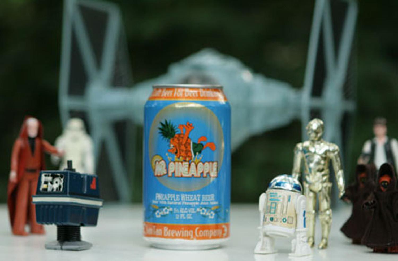 Mr. Pineapple beer from San Tan is a fun summer fruit beer.