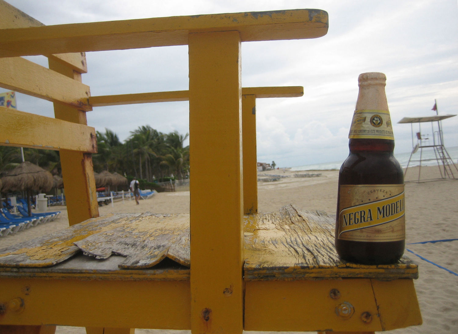 Enjoy Negra Modelo on the beach, with other Mexican beer.
