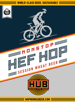 Nonstop Hef Hop is a summer wheat beer.