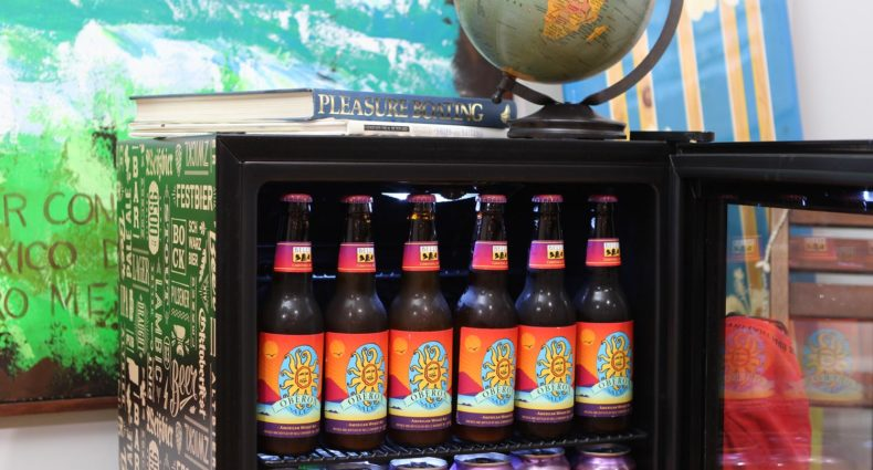 NewAir Beers of the World fridge stocked with Bells Oberon.
