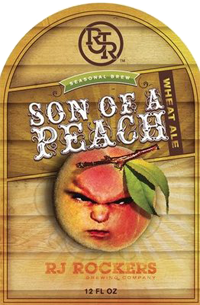 Try a peach summer beer when you relax from RJ Rockers Brewing.