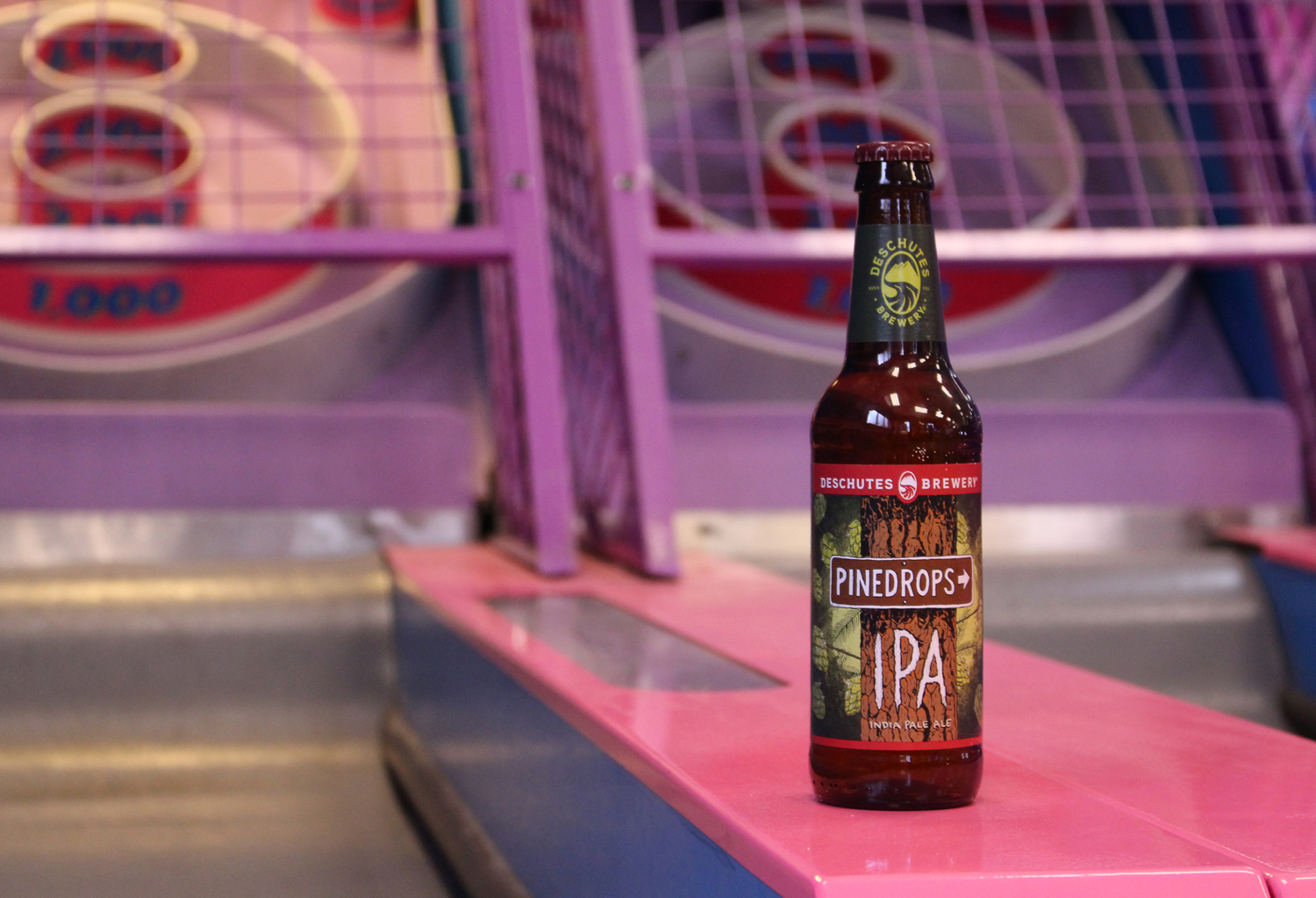 Pinedrops summer IPA pairs well with skee ball.