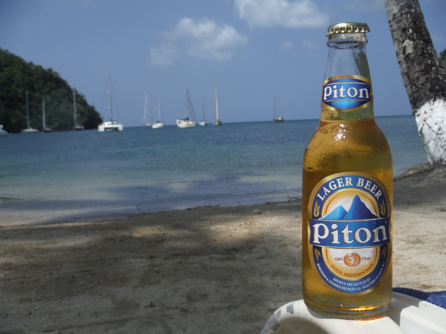 Piton is the St. Lucia beer on the Caribbean beaches.