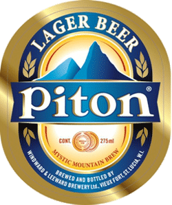Piton St. Lucia beer can be found on the Caribbean islands.