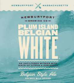 Plum Island witbier is a well crafted summer Belgian white beer.