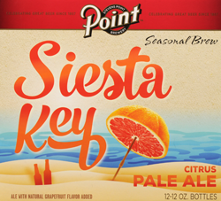 Point Brewing's Siesta Key Citrus Pale Ale for summer.