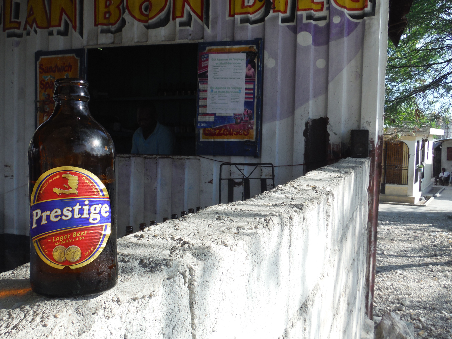 Prestige Lager Haiti beer is the best Caribbean beer on the island.